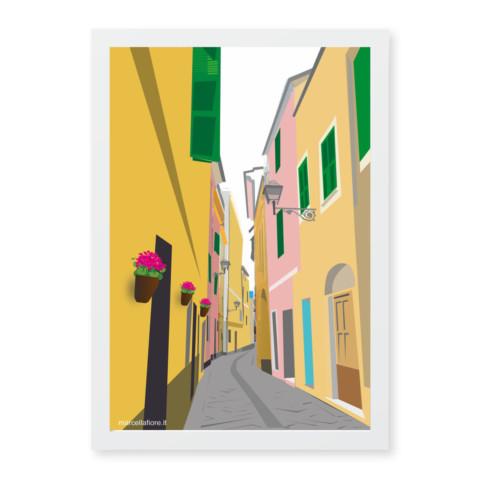 Dettagli del Borgo Coscia, Alassio